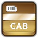 128x128px size png icon of Archive CAB