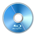 128x128px size png icon of bluray disc