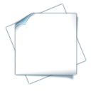128x128px size png icon of document empty