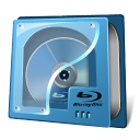 128x128px size png icon of drive bluray