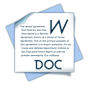 128x128px size png icon of filetype doc