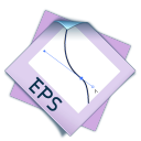 128x128px size png icon of filetype eps