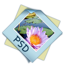 128x128px size png icon of filetype psd
