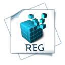 128x128px size png icon of filetype reg