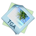 128x128px size png icon of filetype tga