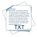 128x128px size png icon of filetype txt