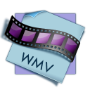 128x128px size png icon of filetype wmv