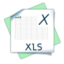 128x128px size png icon of filetype xls