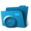 128x128px size png icon of folder clock