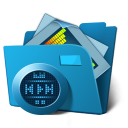 128x128px size png icon of folder multimedia