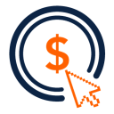 128x128px size png icon of Pay Per Click