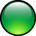 128x128px size png icon of Aqua Ball Green
