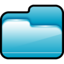 128x128px size png icon of Folder Open Blue