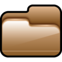 128x128px size png icon of Folder Open Brown