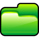 128x128px size png icon of Folder Open Green