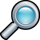 128x128px size png icon of Magnifying Glass 2