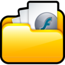 128x128px size png icon of My SWF Files