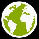 128x128px size png icon of midori globe