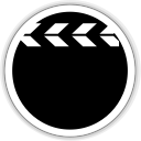 128x128px size png icon of multimedia video player