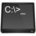 128x128px size png icon of MS DOS Application