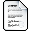 128x128px size png icon of Contract