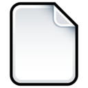 128x128px size png icon of Document Blank