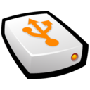 128x128px size png icon of USB Drive