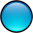 128x128px size png icon of Button Blank Blue
