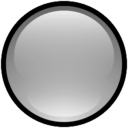 128x128px size png icon of Button Blank Gray