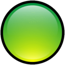 128x128px size png icon of Button Blank Green