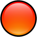 128x128px size png icon of Button Blank Red