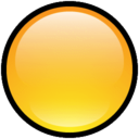 128x128px size png icon of Button Blank Yellow