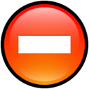 128x128px size png icon of Button Delete