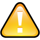 128x128px size png icon of Button Warning