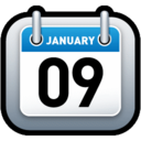 128x128px size png icon of Calendar Blue