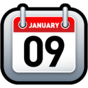 128x128px size png icon of Calendar Red