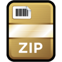 128x128px size png icon of Compressed File Zip
