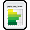128x128px size png icon of Document Gant Chart