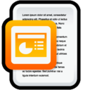 128x128px size png icon of Document Microsoft PowerPoint