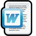 128x128px size png icon of Document Microsoft Word