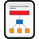 128x128px size png icon of Document Organization Chart