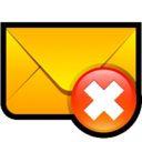 128x128px size png icon of Email Delete
