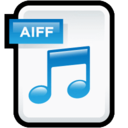 128x128px size png icon of File Audio AIFF