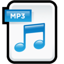 128x128px size png icon of File Audio MP 3