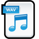 128x128px size png icon of File Audio WAV