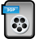 128x128px size png icon of File Video 3GP
