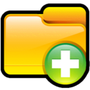 128x128px size png icon of Folder Add