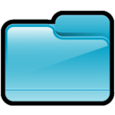 128x128px size png icon of Folder Generic Blue