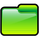 128x128px size png icon of Folder Generic Green