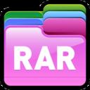 128x128px size png icon of Folder RAR